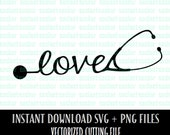 SVG File Commercial Use OK Stethoscope Love SVG Cutting File - Nurse and Doctor - Love their Job - Gift Idea - Vector Files