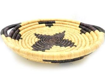 Handwoven African Basket, Handwoven Basket, Made in Africa, Made in Rwanda, African Decor, Kitchen Decor, Serving Tray, African Wall Art