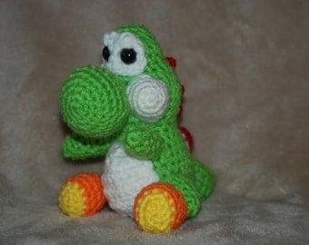 Crocheted Yoshi / Amigurumi Yoshi / Yarn Yoshi