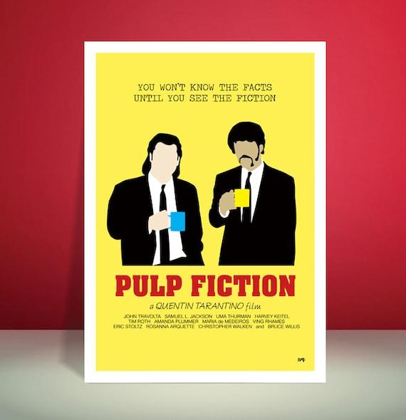 Pulp Fiction // Gourmet Coffee Scene // Minimalist Movie Poster // Unique A3 Art Print