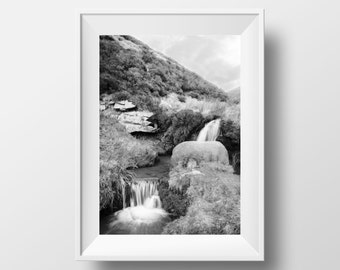 Kinder Scout Pool / Peak District / Derbyshire / Waterfall / Nature / Wall Art / Print
