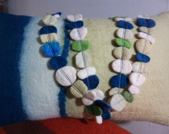 Wet felted bead necklace