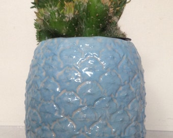 Sky-Blue Pineapple Planter
