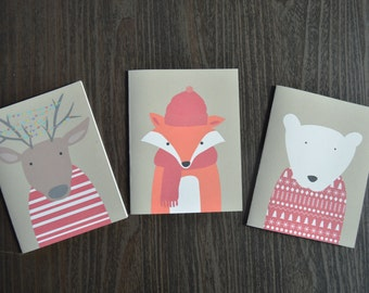 Woodland Creatures Christmas Cards