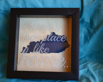 There's No Place Like Home Kentucky Shadow Box