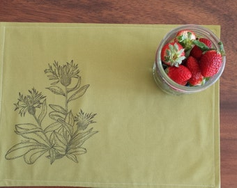 Organic Cotton/Placemat/Hand Painting/