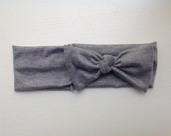 Gray jersey headband