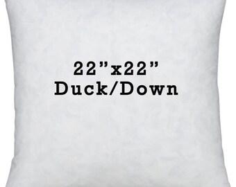 22x22 Down Pillow Insert - Pillow Inside - Pillow Form - Down Pillow - Throw Pillow - Toss Pillow - Down Filler - Down Insert - 22x22 Pillow