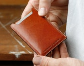 Kangaroo Leather Card Holder, Australian, Chestnut Brown, Cardholder, Small Wallet, Money Clip, Slim Wallet, Card Wallet, Thin, Personalized