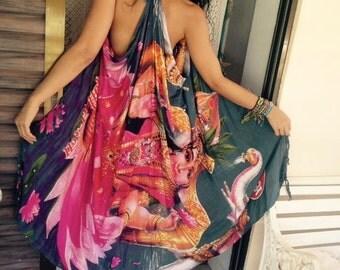 Kimono sleeveless dress
