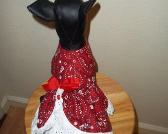Handkerchief  dog dress