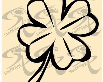 Clover Vector flower flowering elite decoration_clipart Download files, Digital, graphical,SVG,DXF,AI, png, eps, jpg