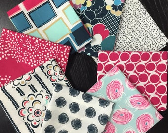 Curated Modern Fat Quarter Bundle with Dare Prints by Pat Bravo for Art Gallery Fabrics - 8 Fat Quarters