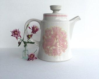 S A L E   Vintage Noritake Primastone Lovebird Coffee Pot & Lid 8327