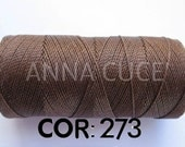 COR: 273 Choose from 10 - 20m waxed thread LINHASITA thick, wire 1mm for macramé, materials.