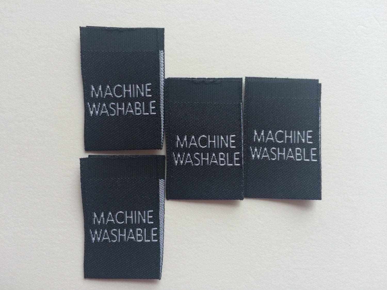 machine washable clothing labels