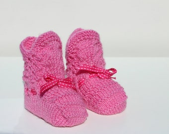 Baby Girl Gift Baby Girl Clothes Pink Baby Booties Pink Baby Shoes Pretty Crib Shoes Traditional Christening Baby Shower Baptism Vintage
