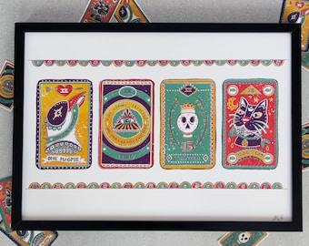 Tarot Cards - Black cat, Magpie, Unlucky penny, Thirteen