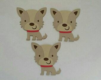 Scruffy Dog Die Cut set of 3
