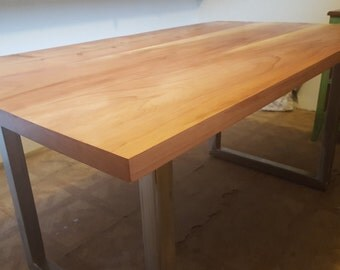 Redwood Table W/ Steel Legs