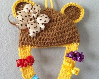 Crochet Little girl hair clip holder