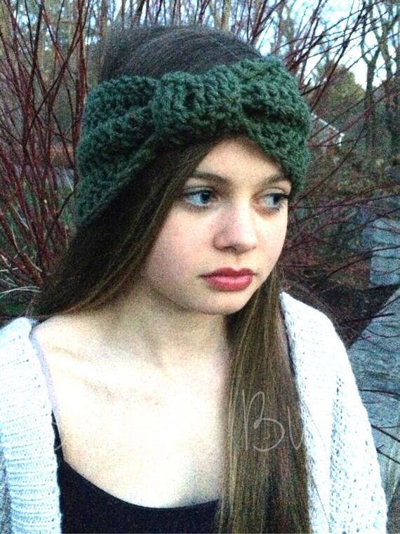 Cinched Headband Ear Warmer Turban crochet headband knit