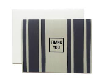"Thank You Letterpress Card, ""Thank You"", Modern, Masculine"