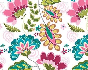 Fantine by Riley Blake - Fantine Main White - Cotton/Spandex Knit