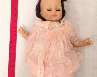 Large Antique Sleepy Eye Composition Baby Doll