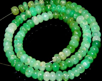 Chrysoprase Smooth Beads Rondell Shape 5x6.mm Approx 100% Natural Superb Quality Wholesale Price New Arrival