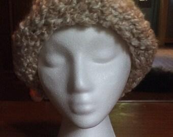 Beige Fluffy Hat