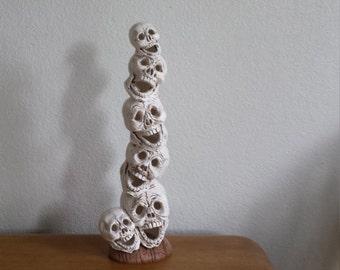 Ceramic Stack of Skulls (#697)