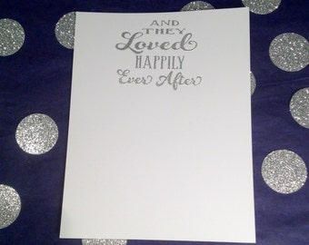 Wedding Thank You Flat Cards and Envelopes - Silver and White - Set of 8