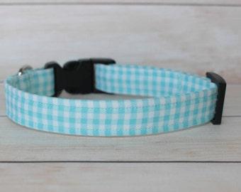 Plaid Dog Collar-boy dog collars preppy dog collar- cute boy dog collars- adjustable collar- custom dog collar- unique dog collar