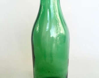 Large Antique Green Glass Bottle