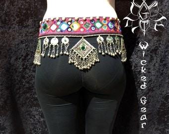 Belly Dance Belt, Tribal Fusion Belt, belly dance belt, kuchi belt, medallion belt, ATS belt, tribal belly dance belt, tribal belt