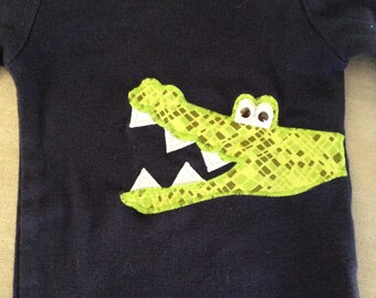 Alligator / Crocodile Applique Onesie / Bodysuit