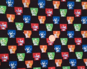 The BEATLES 2009 John Lennon, RIngo, Paul, George ~ 100% Cotton Fabric Fat QUARTER/ FQ or 1/2 Yard....for Quilting & Crafts