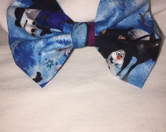 Frozen fabric hair bow