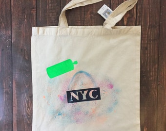 Graffiti Artisit NYC Reusable Tote or Grocery and Book Bag