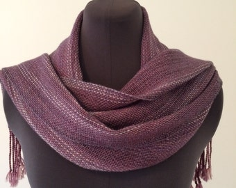 Handwoven Scarf-Purple/Gray