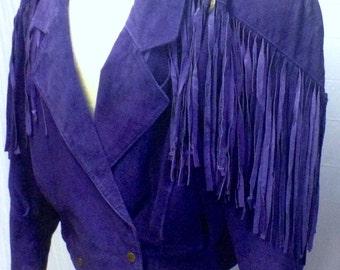 Purple Fringe Jacket