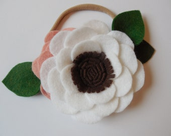 Sweet Bliss Headband - White and Peach