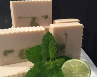 COCONUT LIME VERBENA Soap....Made With Coconut Oil, Shea Butter, and A Refreshing Lime Verbena Fragrance....Vegan