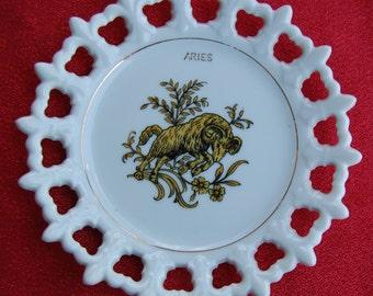 Collectable Vintage Zodiac Aries Porcelain Plate MTVAP240