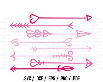 Arrow Design Files, Silhouette Studio, Cricut Design, Brother Scan Cut, Scal, DXF Files, SVG Font, EPS File, Svg File, Silhouette - CA299