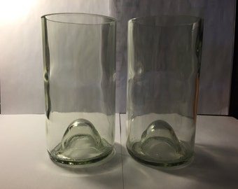 Wine Bottle Drinking Glass (Clear Set of 2)
