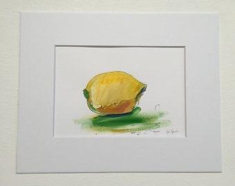 Original Acrylic Painting:  Lemon
