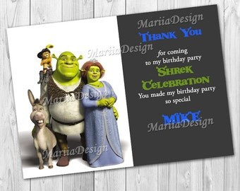 50%!  SALE!  Shrek Thank You Card