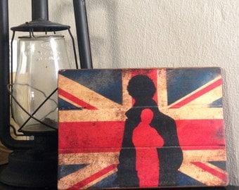 SAMPLE SALE: Sherlock Antiqued Wooden Sign
